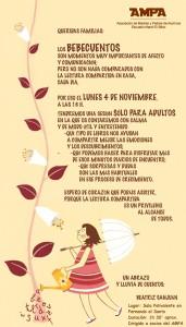 cartel AMPA  Los Bebecuentos